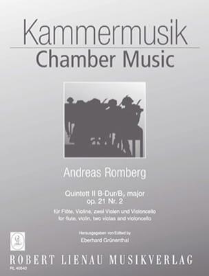 Quintett Nr. 2 B-Dur op. 21/ 2 -Flöte Violine 2 Violen Violoncello laflutedepan