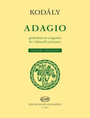 Adagio - Violoncelle et piano - KODALY - Partition - laflutedepan.com