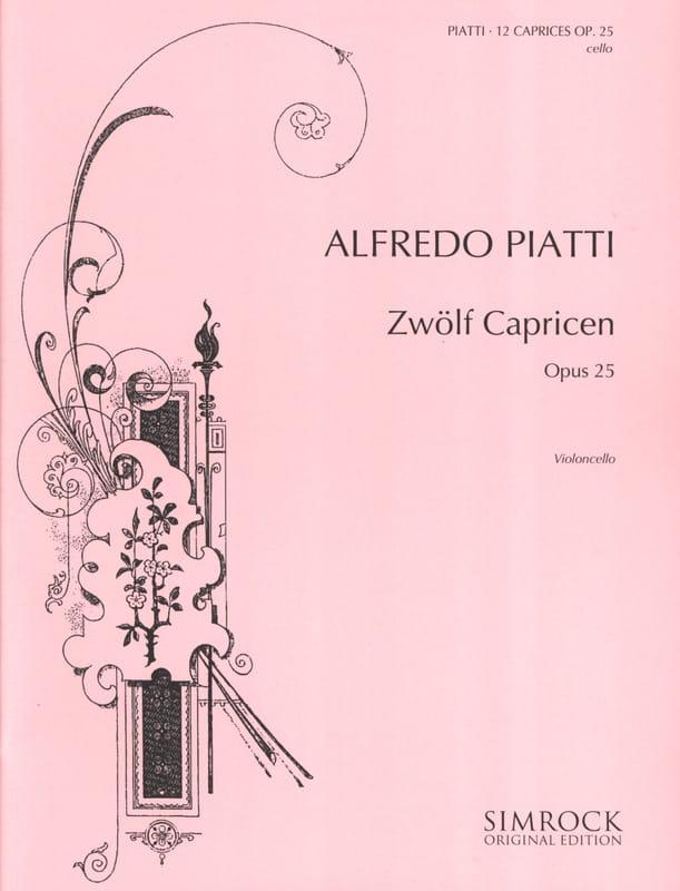 12 Capricen op. 25 - Alfredo C. Piatti - Partition - laflutedepan.com