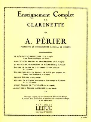 22 Etudes modernes Auguste Périer Partition Clarinette - laflutedepan