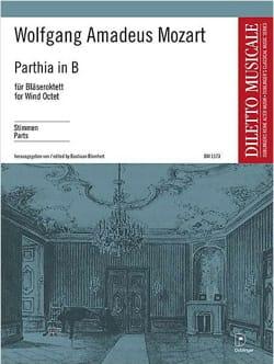 Parthia Kv 361 - Octuor à Vents Parties MOZART Partition laflutedepan