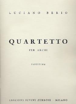 Quartetto per archi - Partitura BERIO Partition laflutedepan