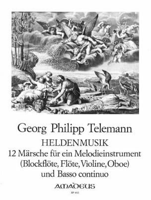 Heldenmusik - 12 Märsche TELEMANN Partition Flûte à bec - laflutedepan