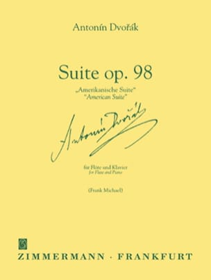 DVORAK - Suite op. 98 American Suite - Flöte Klavier - Partition - di-arezzo.co.uk