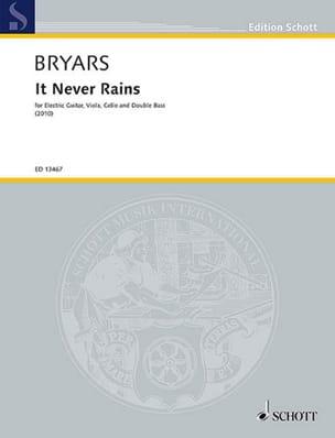 It Never Rains Gavin Bryars Partition Quatuors - laflutedepan