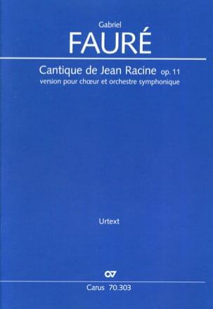 Cantique de Jean Racine, op. 11 - Conducteur FAURÉ laflutedepan