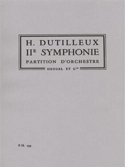 Symphonie n° 2 DUTILLEUX Partition Grand format - laflutedepan