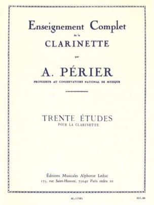 30 Etudes Auguste Périer Partition Clarinette - laflutedepan