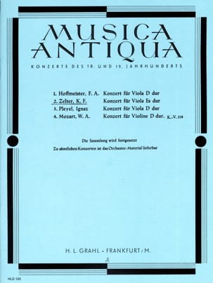 Konzert für Viola Es Dur Carl Friedrich Zelter Partition laflutedepan