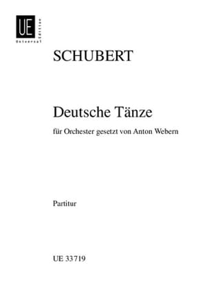 Deutsche Tänze Op. Post. D 820 SCHUBERT Partition laflutedepan