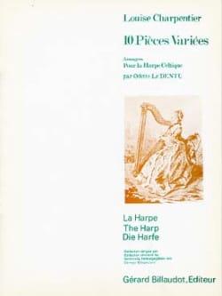 10 Pièces Variées - Harpe Louise Charpentier Partition laflutedepan