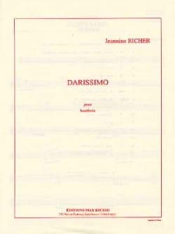 Darissimo Jeanine Richer Partition Hautbois - laflutedepan