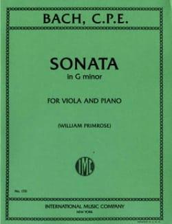 Sonata in G minor - Viola Carl Philipp Emanuel Bach laflutedepan