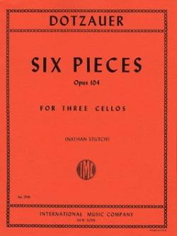 6 Pieces op. 104 - 3 Cellos Friedrich Dotzauer Partition laflutedepan