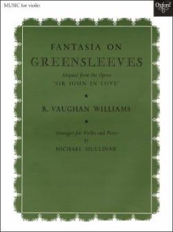 Fantasia On Greensleeves WILLIAMS VAUGHAN Partition laflutedepan