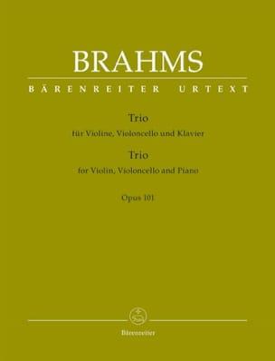 Trio pour violon, violoncelle et piano, op. 101 BRAHMS laflutedepan