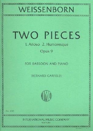 2 Pieces - Basson et Piano - Julius Weissenborn - laflutedepan.com