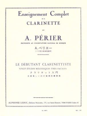Le Débutant Clarinettiste Auguste Périer Partition laflutedepan