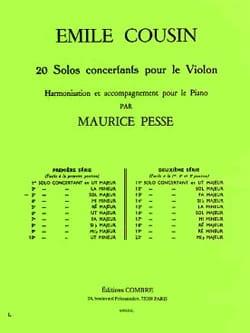 Solo concertant n° 3 en Sol Majeur Emile Cousin Partition laflutedepan