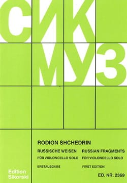 Russian Fragments - Violoncelle Rodion Shchedrin laflutedepan