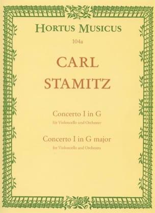 Concerto n° 1 sol majeur - Cello piano STAMITZ Partition laflutedepan