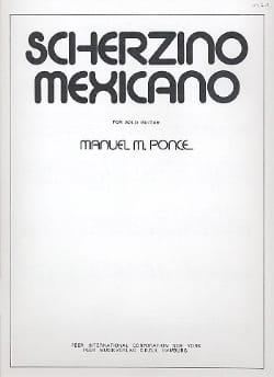 Scherzino mexicano - Gitarre Manuel Ponce Partition laflutedepan