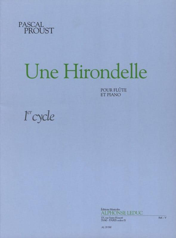 Une hirondelle - Pascal Proust - Partition - laflutedepan.com