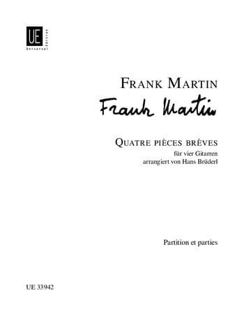4 Pièces Brèves 1933 - Frank Martin - Partition - laflutedepan.com