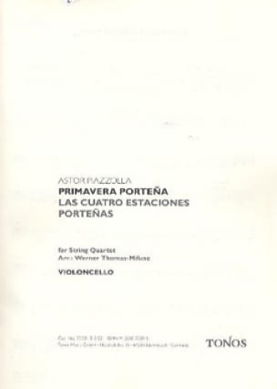 Primavera Portena - Astor Piazzolla - Partition - laflutedepan.com