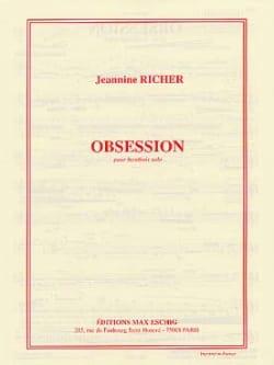 Obsession Jeannine Richer Partition Hautbois - laflutedepan