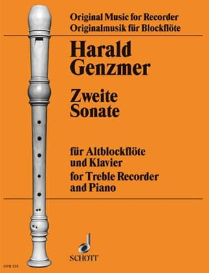 Sonate Nr. 2 - Altblockflöte Klavier Harald Genzmer laflutedepan