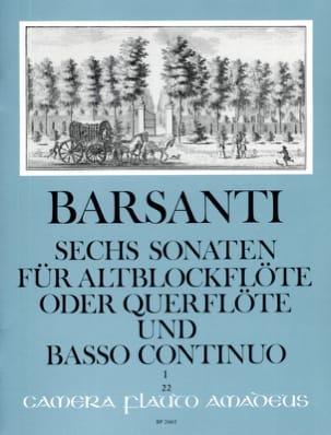 6 Sonaten f. Altblockflöte Querfl. - Bd. 1 laflutedepan
