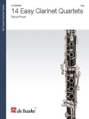 14 Easy Clarinet Quartets - 4 Clarinettes Pascal Proust laflutedepan