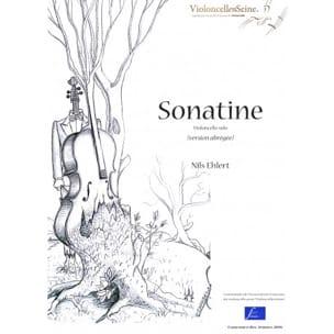 Sonatine Nils Ehlert Partition Violoncelle - laflutedepan