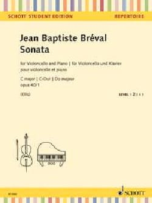 Sonata C major, opus 40/1 - Jean-Baptiste Bréval - laflutedepan.com