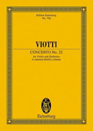 Violin-Konzert Nr. 22 a-moll VIOTTI Partition laflutedepan