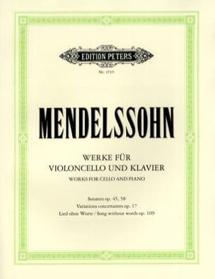 MENDELSSOHN - Funciona para violonchelo y piano - Partition - di-arezzo.es