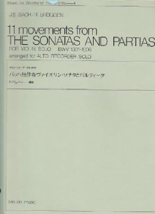 11 Movements from Sonatas and Partitas BWV 1001-1006 - laflutedepan.com