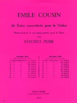 Solo concertant n° 5 en ré majeur Emile Cousin Partition laflutedepan