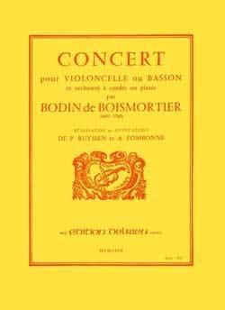 Concert en Ré Majeur BOISMORTIER Partition Violoncelle - laflutedepan