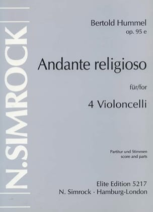 Andante Religioso op. 95 e - HUMMEL - Partition - laflutedepan.com