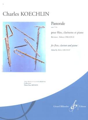 Pastorale op. 75 bis Charles Koechlin Partition Trios - laflutedepan
