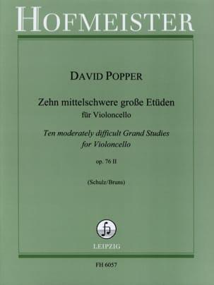 10 Etüden op. 76/2 David Popper Partition Violoncelle - laflutedepan