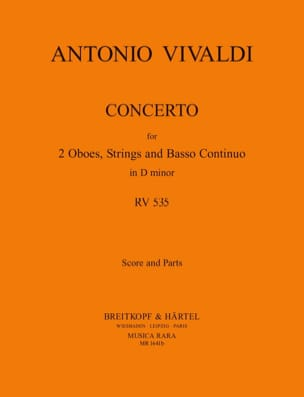 Concerto In D Minor Rv 535 / P 302 - 2 Oboes Strings Bc laflutedepan