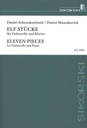 CHOSTAKOVITCH - 11 Pieces - Partition - di-arezzo.com
