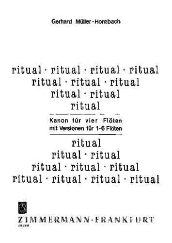 Ritual - 4 Flöten mit Versionen für 1-6 Flöten - laflutedepan.com