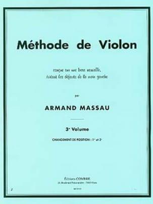 Méthode de Violon Volume 3 Armand Massau Partition laflutedepan