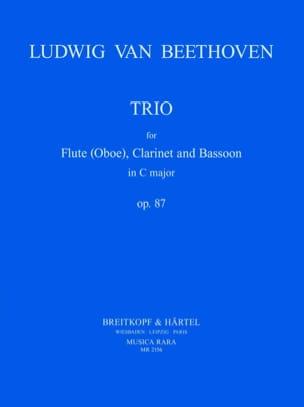 BEETHOVEN - Trio op. 87 - Flute clarinet bassoon - Score Parts - Partition - di-arezzo.co.uk