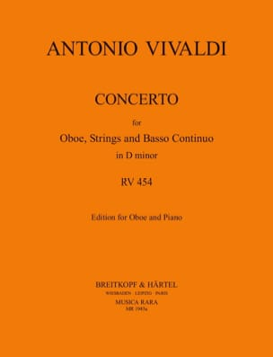 Concerto In D Minor Rv 454 P. 259 VIVALDI Partition laflutedepan