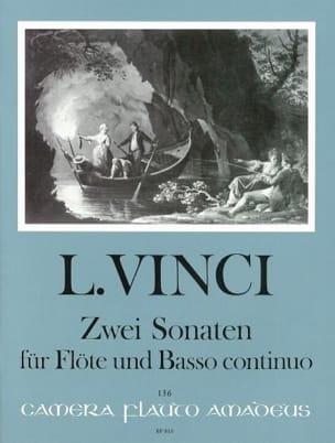 2 Sonaten Leonardo Vinci Partition Flûte traversière - laflutedepan